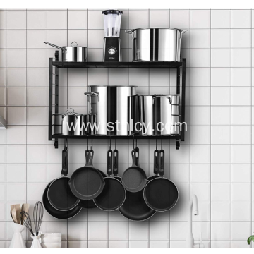 2-Tiered Metal Kitchen Rack Hanging Organizer